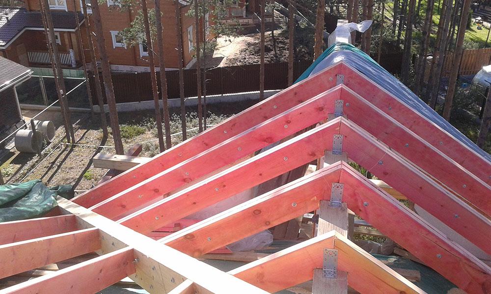 СК Ситируф продолжает строительство коттеджа в поселке Энколово