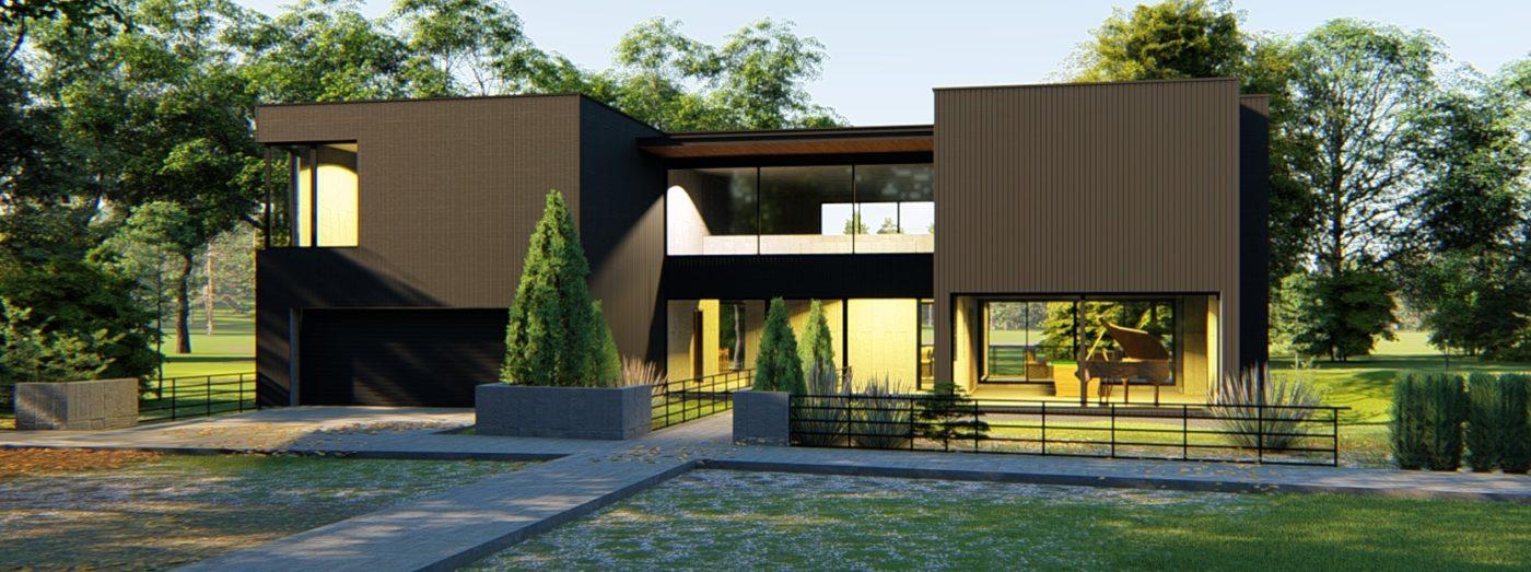 Проект BLACK GARAGE HOUSE 370